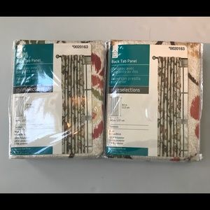 84 x 54 inch Back Tab Panels Pair (2) Floral New!